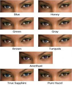 Freshlook gekleurde lenzen gezicht